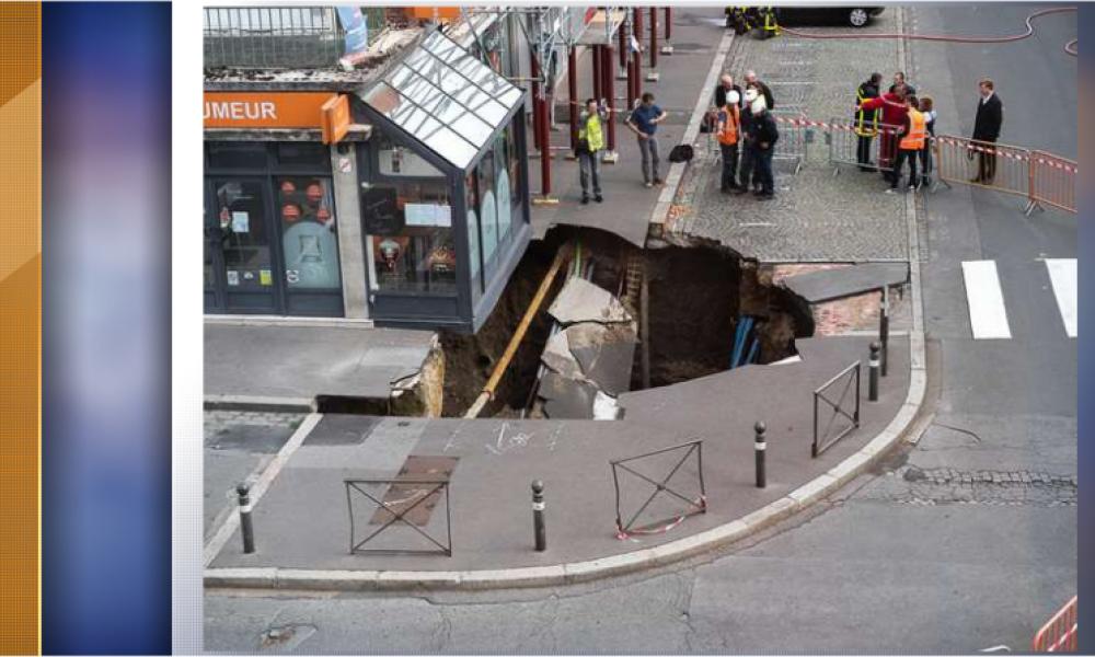 Amiens: un trou inexpliqué d'une profondeur de cinq mètres est apparu subitement