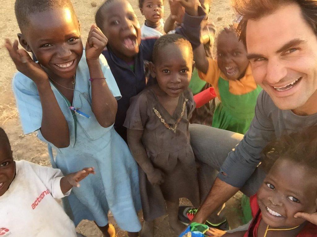 Roger Federer donne 12 millions d'euros pour construire 80 écoles en Afrique