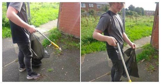 Une mère punit son fils de manière épique après avoir découvert sur Facebook qu'il jetait des déchets par terre