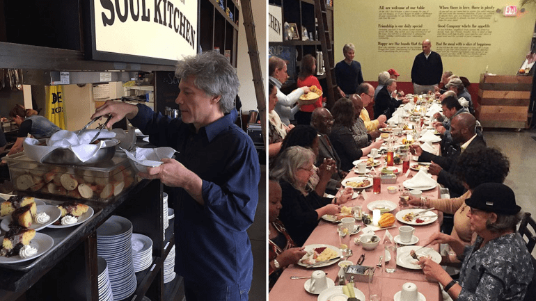 Le chanteur Bon Jovi ouvre deux restaurants où les sans-abri peuvent venir manger gratuitement
