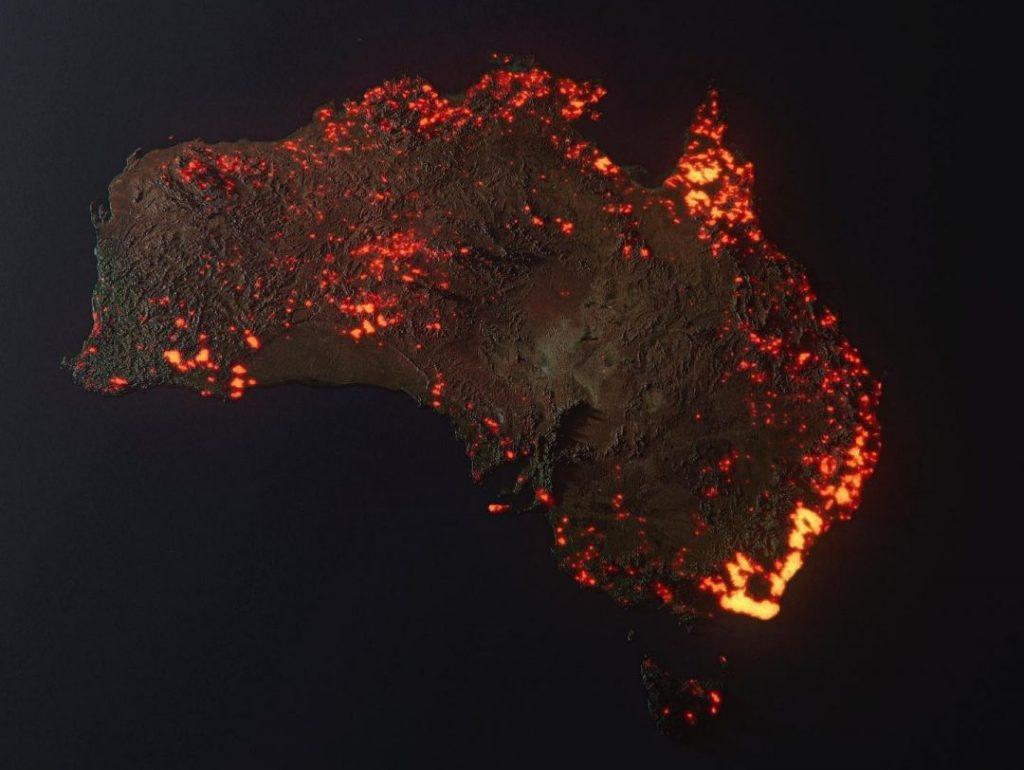 Australie en feu : Cette image 3D de la Naza fait froid dans le dos