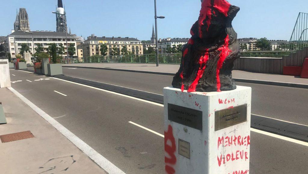 Rouen : une statue de Christophe Colomb vandalisée