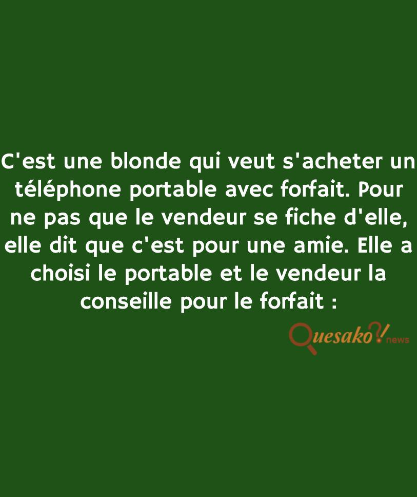 La blonde cherche un nouveau téléphone